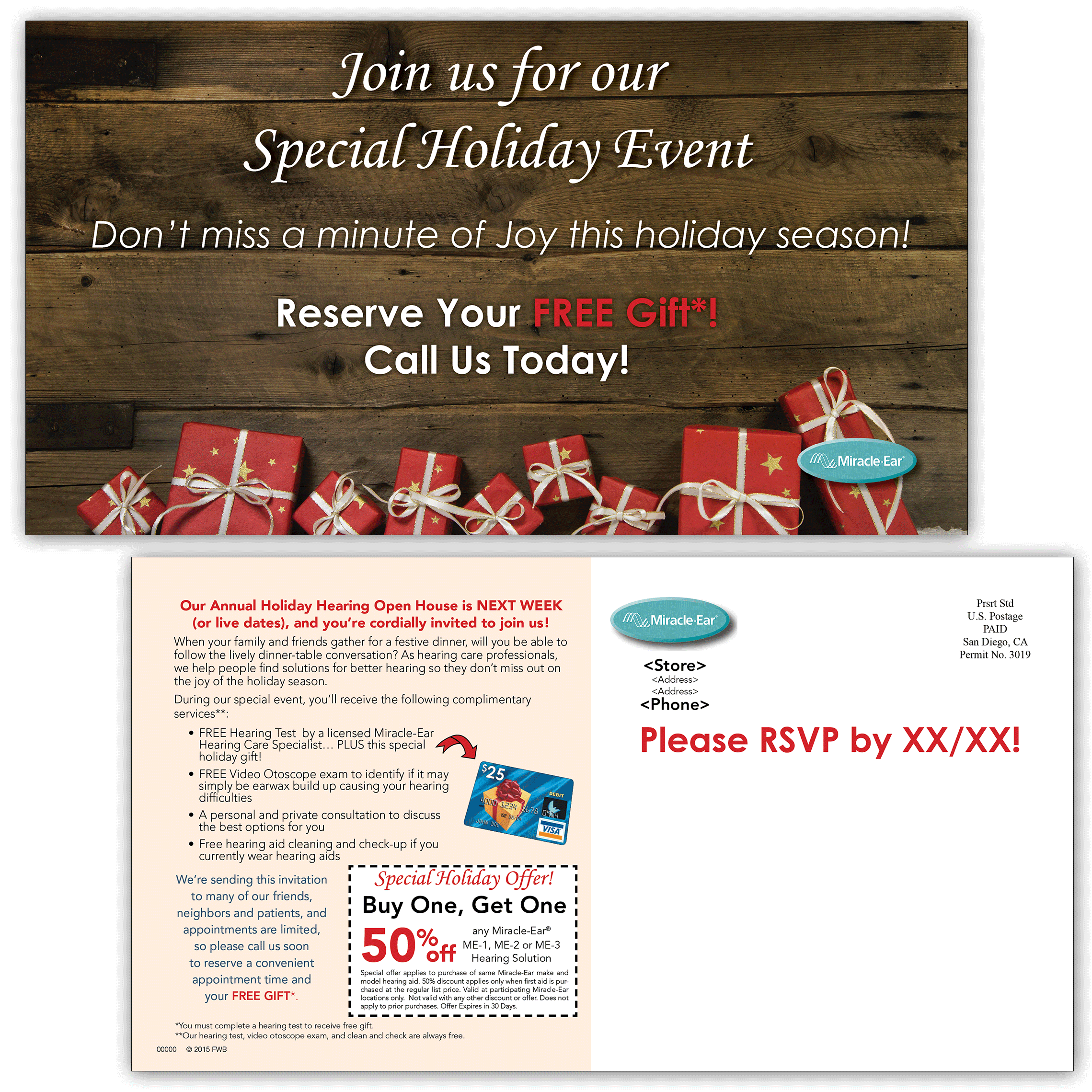 *NEW* Holiday Package Postcard