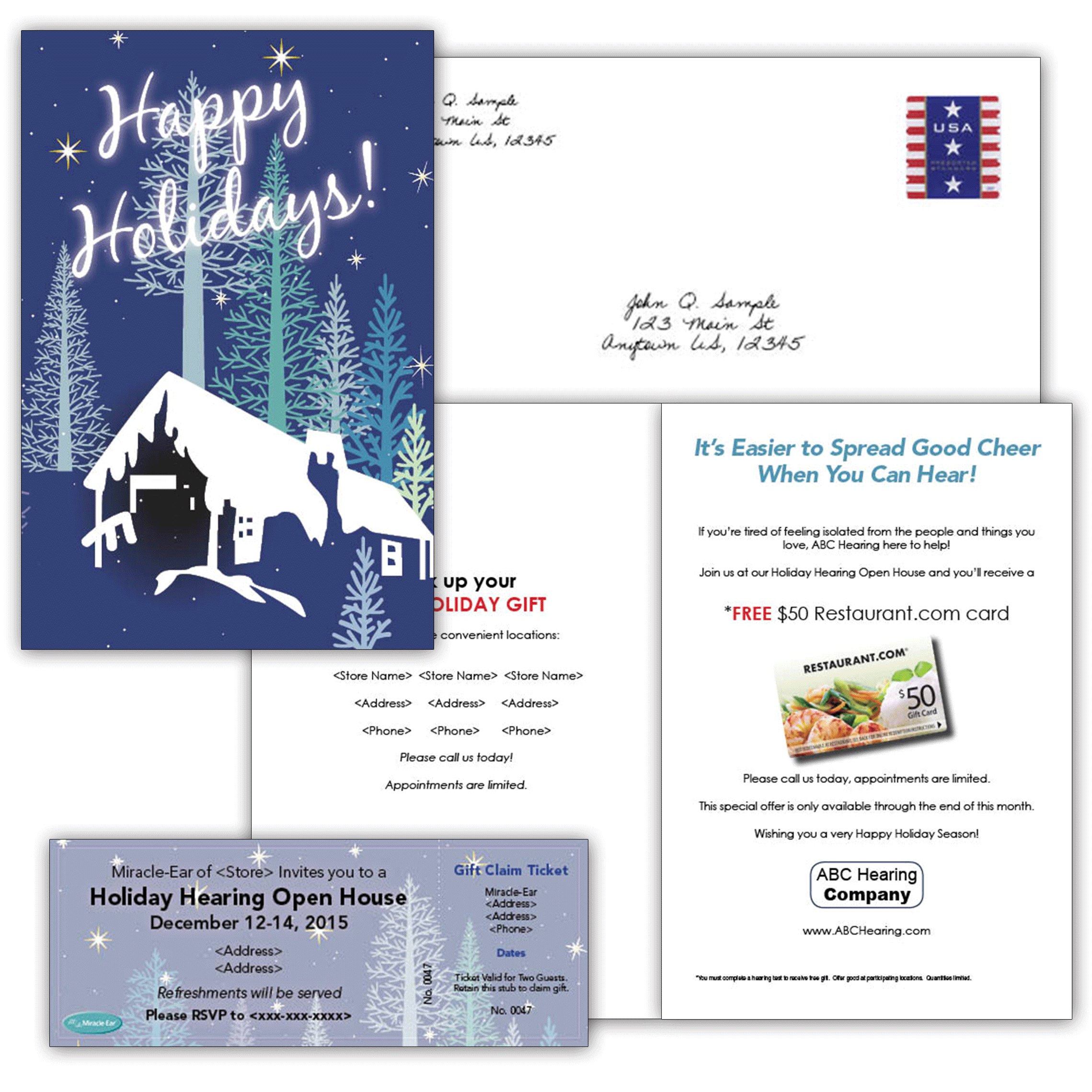 *NEW*  Modern Holiday Card & Event Ticket