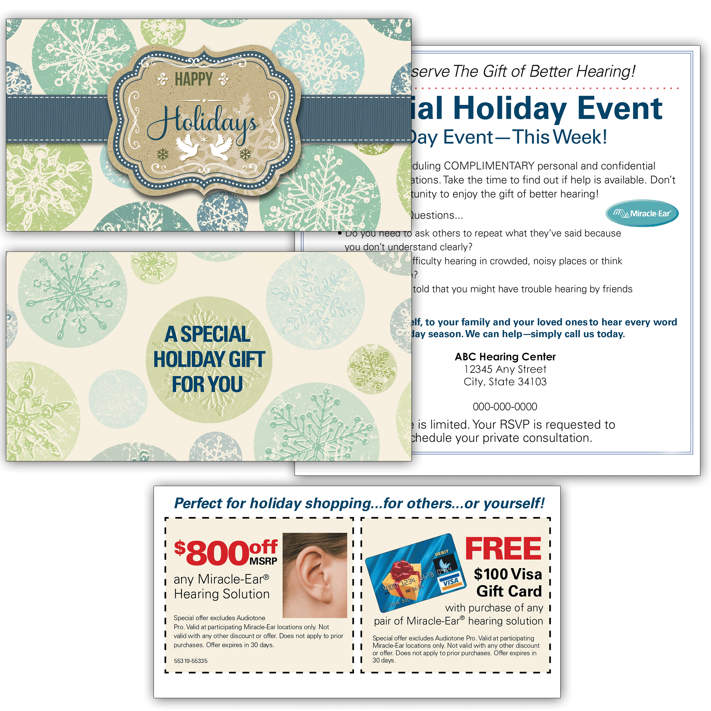 Event Invitation Holiday Card